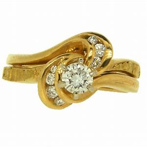 custom alaskan gold nugget diamond wedding ring With gold nugget wedding rings