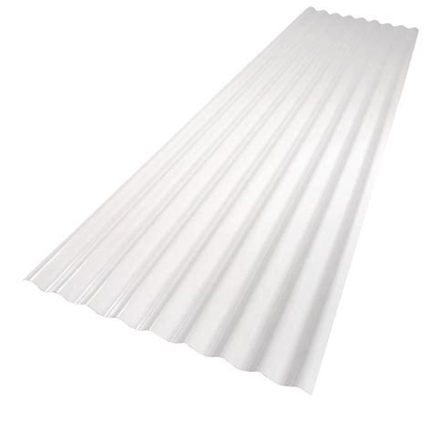 Palruf 26 In X 8 Ft White Pvc Roof Panel101336  The