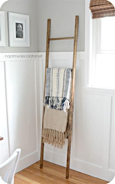 diy blanket ladders  modern concept   rustic appeal