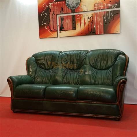 canape d angle tissus canapé stylisé cuir vert bois apparent 3 places n124