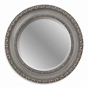 buy 26 inch round decorative mirror in grey from bed bath With bed bath and beyond decorative mirrors