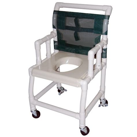 18 wide drop arm shower commode chair with vacuum formed