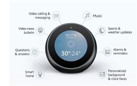 alexa powered amazon echo spot  display debuts