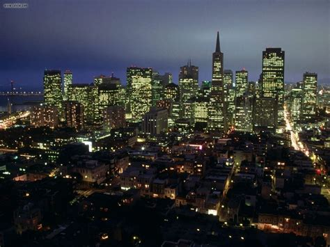 City Lights San Francisco by Buildings City City Lights Of San Francisco California