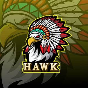 Front view flying eagle sport logo mascot Vector | Premium ...