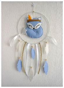 Attrape Reve Chambre Bebe : mobile b b attrape r ves renard bleu feutrine cadeau no l b b ou enfant cadeau naissance ~ Teatrodelosmanantiales.com Idées de Décoration
