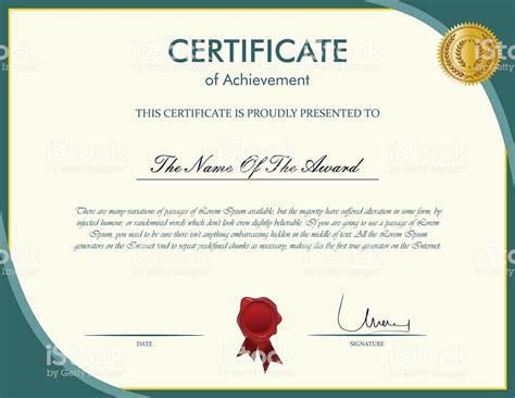 certificate template stock vector art  istock