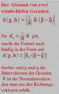 Normalenvektor Berechnen : abstand berechnen entfernung abstand punkt punkt abst nde berechnen mathe ~ Themetempest.com Abrechnung
