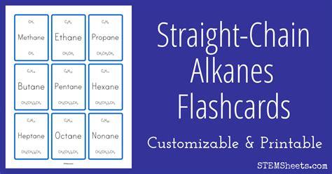 straight chain alkanes flashcards stem sheets