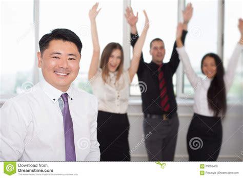 executive asian boss   successful business team