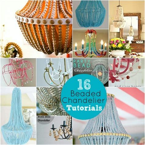 chandelier tutorial how to make a diy wood beaded chandelier tatertots and