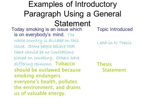 Writing An Introductory Paragraph  Ppt Video Online Download