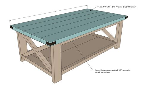 how to build a coffee table ana white rustic x coffee table diy projects
