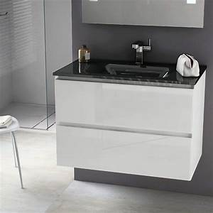 awesome salle de bain noir et blanc gallery bikepartyus With meuble vasque salle de bain noir