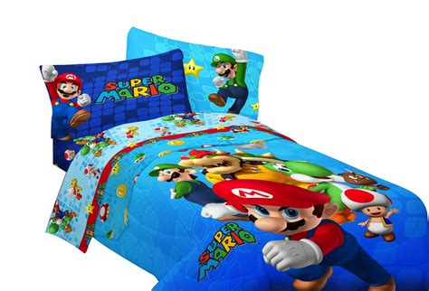 Mario Brothers Bedding Set For Kids For The Littlest Gamer