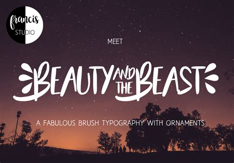 beauty   beast font   fonts