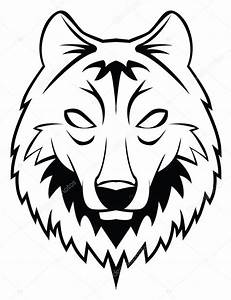 Vector illustration of wolf head — Stock Vector ...