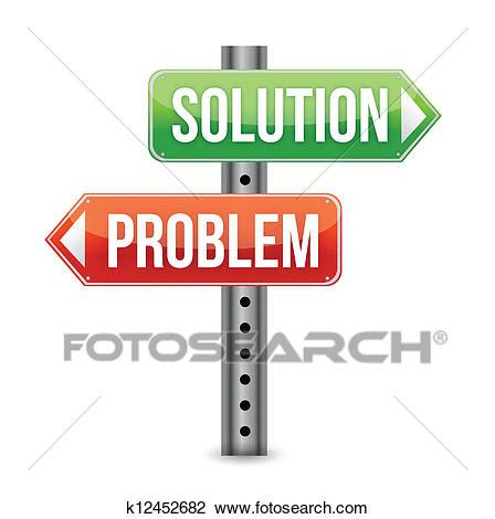 Solution Clipart Clipart Of Problem Solution Road Sign Illustra K12452682