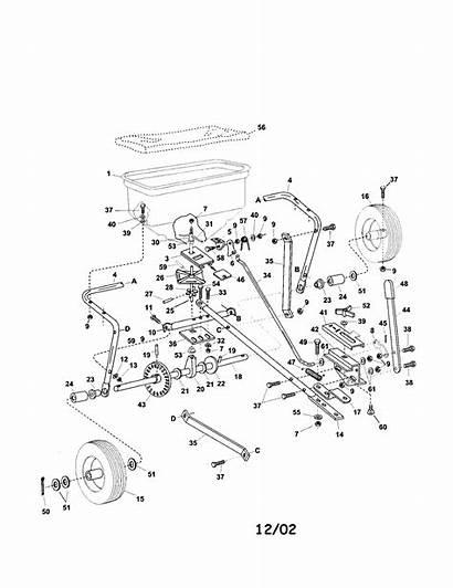 Parts Spreader Diagram Scotts Agri Fab Sears
