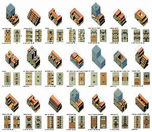 O M  Ungers  Roosevelt Island Competition  Table Of The Building Typology For The Design