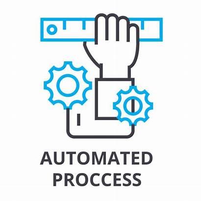 Automated Vector Process Clip Icon Symbol Line