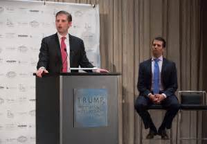 Donald Trump's Sons Talk Russia Probe, New Line of Hotels ...
