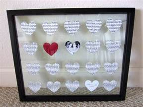 wedding anniversary gifts diy wedding anniversary gift in