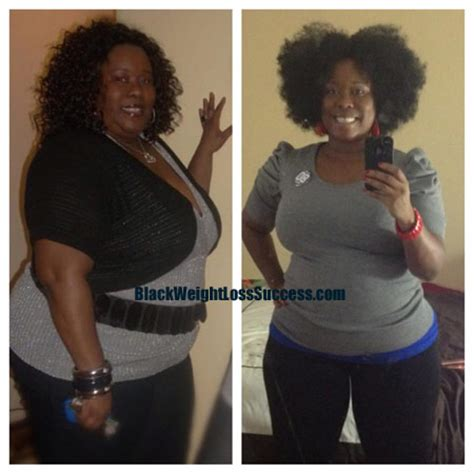 tinesha lost  pounds black weight loss success