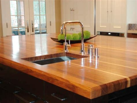 wood island tops kitchens butcher block and wood countertops hgtv