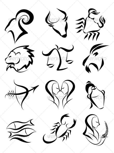 Zodiac signs - Decorative Symbols Decorative | Zodiac tattoos, Zodiac sign tattoos, Zodiac symbols