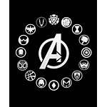 Avengers Marvel Icons Infinity War Heroes Symbols