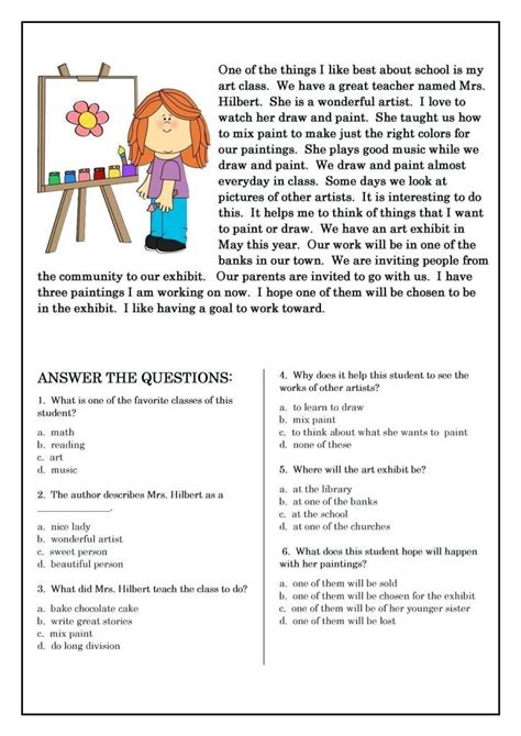 grade reading worksheets  grade reading