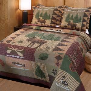 greenland home fashions gl 1105d moose lodge quilt set