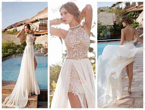 D00151 Sabrina Flow Dress julie vino 2014 backless wedding dresses halter high