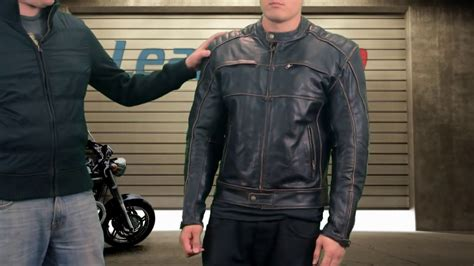 Xelement 'boone Charcoal' Mens Dark Brown Leather Jacket