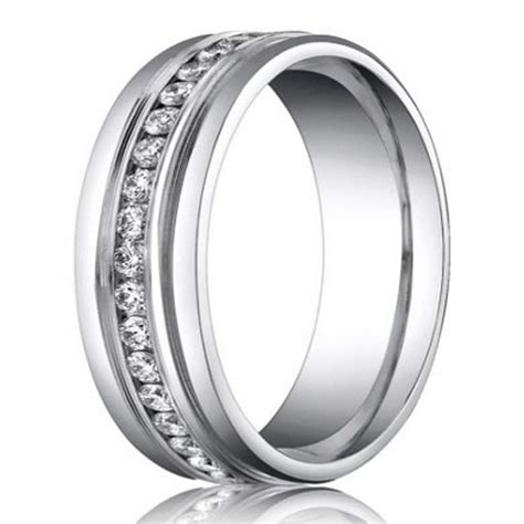 6mm Benchmark Palladium Men's Diamond Eternity Wedding
