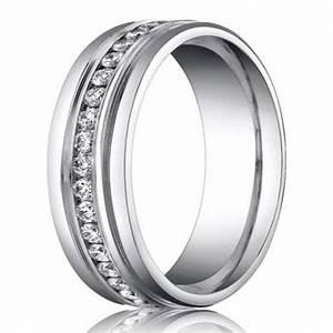 6mm benchmark palladium mens diamond eternity wedding With mens palladium diamond wedding ring