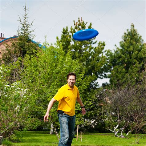 Backyard Frisbee by Frisbee At His Backyard Stock Photo 169 Hasloo