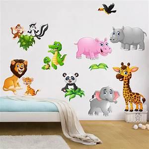 Wandtattoo Tiere Kinderzimmer : wandtattoo kinderzimmer tiere des dschungels ~ Watch28wear.com Haus und Dekorationen