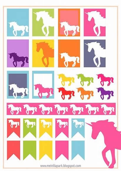 Stickers Unicorn Planner Printable Printables Diy Meinlilapark