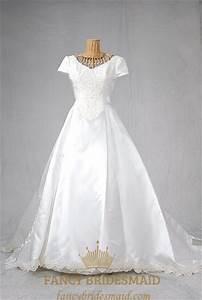 Basque Waist Wedding Dress, Wedding Dress With Long Trains ...