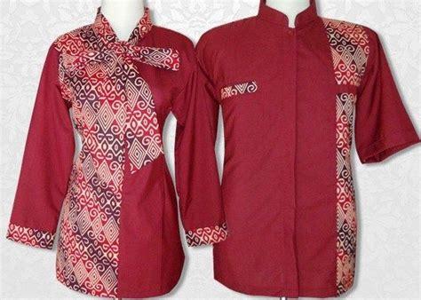 model baju batik kombinasi kain polos embos sifon