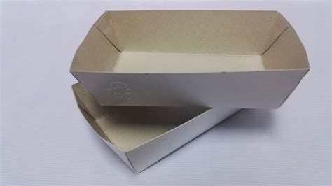 Enduro Paper Tray Pp T paper tray for food 800pcs disposable