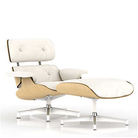 show details for eames lounge chair white ash