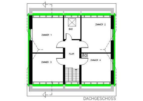 bestandsplan dachgeschoss mit darstellung der beheizten
