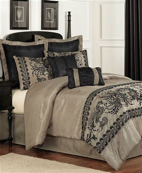 pem america luciel lace 8 pc queen bed in a bag comforter