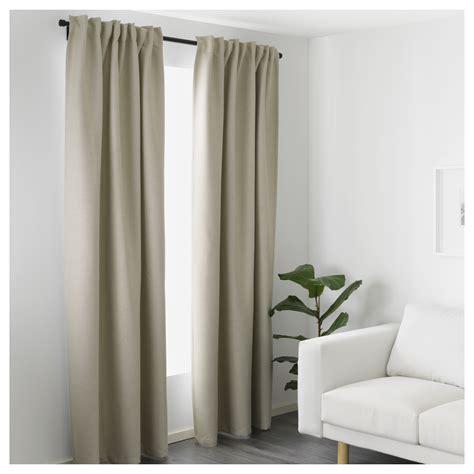 vilborg curtains 1 pair beige 145x250 cm ikea