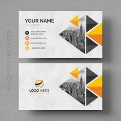 blue wavy vector business card template  business