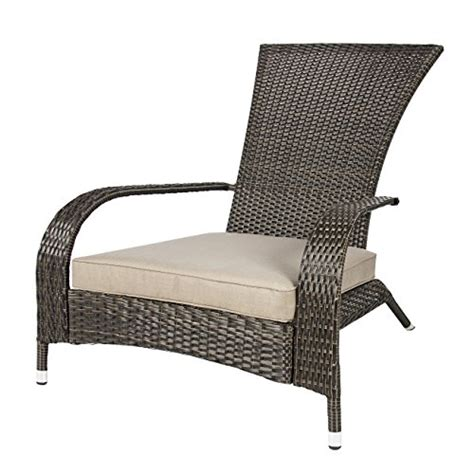 wicker adirondack chair for outdoor patio