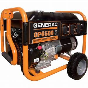 Free Shipping  U2014 Generac Gp6500 Portable Generator  U2014 8 125 Surge Watts  6 500 Rated Watts  Model